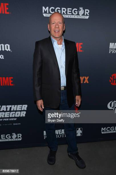 Actor Bruce Willis attends the Showtime WME IME and Mayweather Promotions VIP PreFight party for Mayweather vs McGregor at TMobile Arena on August 26...