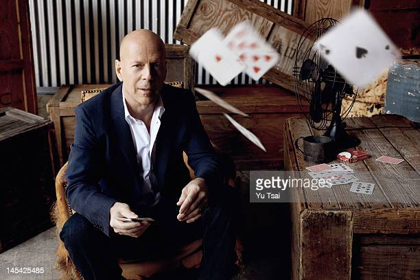 Actor Bruce Willis is photographed for Esquire Magazine on March 13 2012 in Los Angeles California PUBLISHED IMAGE