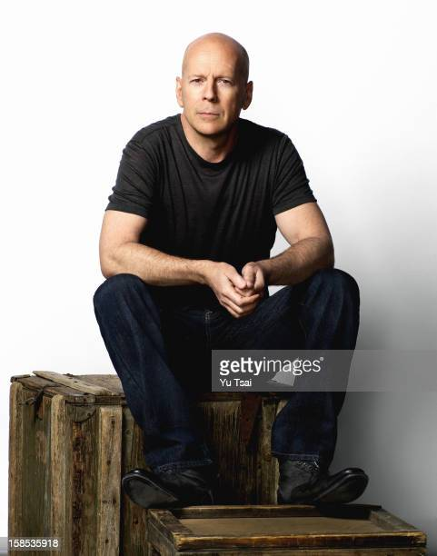 Actor Bruce Willis is photographed for Esquire Magazine on March 13 2012 in Los Angeles California