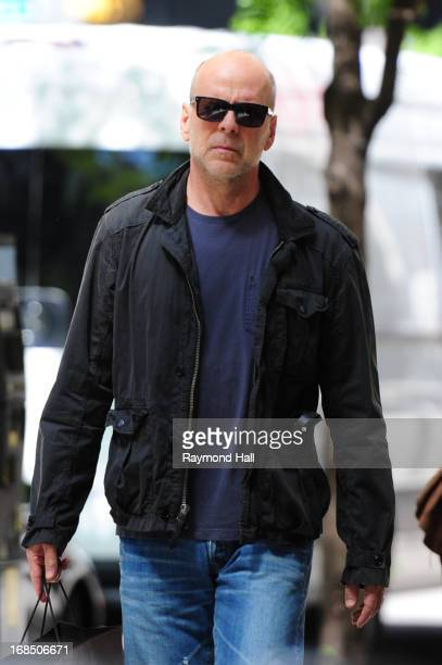 Actor Bruce Willis is seen on May 10 2013 in the Soho section of New York City
