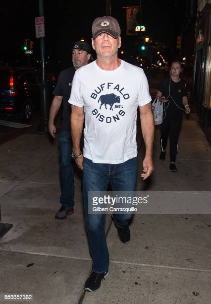 Actor Bruce Willis is seen on September 24 2017 in Philadelphia Pennsylvania