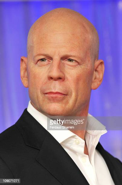 Actor Bruce Willis's wax figure is unveiled at Madame Tussauds on February 14 2011 in London England