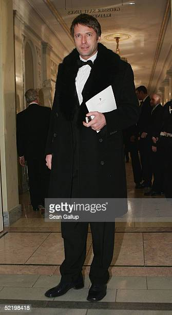 Actor Bruno Eyron arrives at the Cinema For Peace Awards on February 14 2005 in Berlin Germany