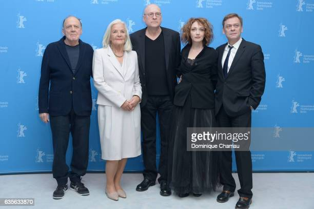 Actor Bruno Ganz, actress Hildegard Schmahl, director Matti Geschonneck , actress Evgenia Dodina and actor Sylvester Groth attend the 'In Times of...