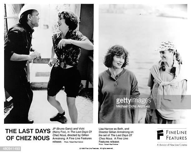 Actor Bruno Ganz and actress Kerry Fox on set actress Lisa Harrow and director Gillian Armstrong on the set of the movie The Last Days of Chez Nous...