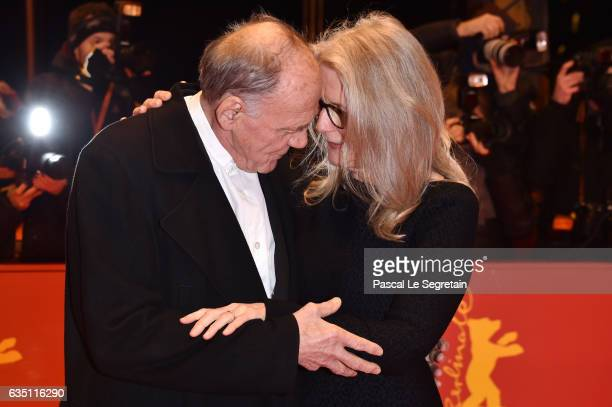 Actor Bruno Ganz and director and screenwriter Sally Potter attend the 'The Party' premiere during the 67th Berlinale International Film Festival...
