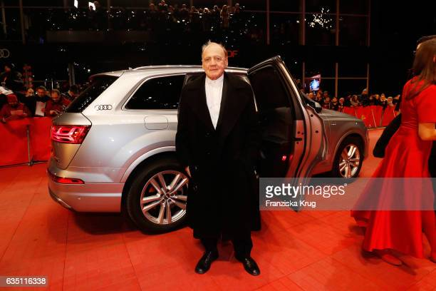 Actor Bruno Ganz arrives at the 'The Party' premiere during the 67th Berlinale International Film Festival Berlin at Berlinale Palace on February 13...