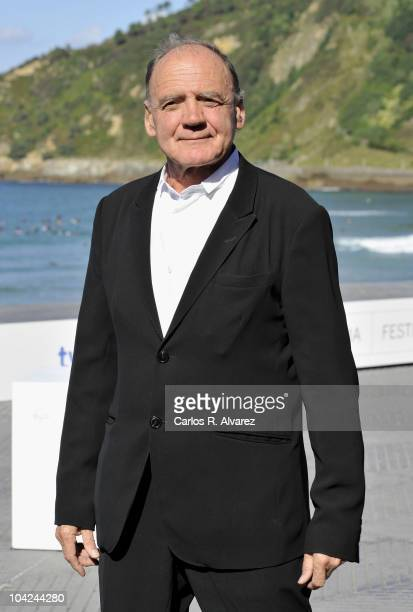 Actor Bruno Ganz attends Satte Farben Vor Schwarz photocall during the 58th San Sebastian International Film Festival on September 18 2010 in San...