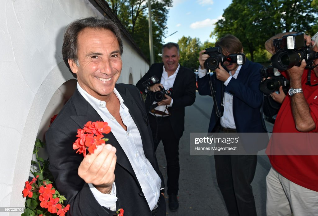 Actor Bruno Maccallini during the dinner Royal at the Gruenwalder Einkehr on July 12, 2018 in Munich, Germany.