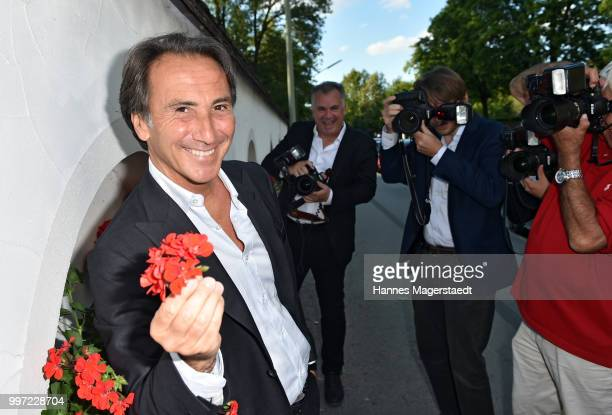 Actor Bruno Maccallini during the dinner Royal at the Gruenwalder Einkehr on July 12 2018 in Munich Germany