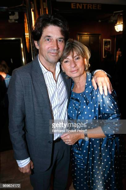 Actor Bruno Madinier and his wife Camille Jean-Robert attend the 'Un Poyo Rojo' Theater Play celebrates its 10th Anniversary at Theatre Antoine on...