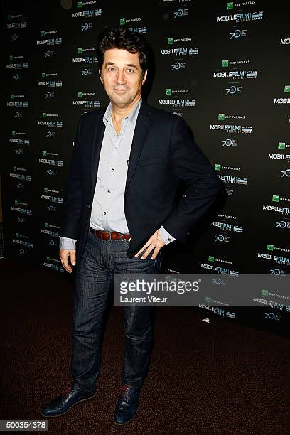 Actor Bruno Madinier attends '1 mobile 1 minute 1 film' as part of Mobile Film Festival at Gaumont Champs Elysees on December 7 2015 in Paris France