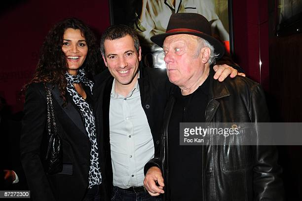 Actor Bruno Putzulu his Girl Friend model Sirley and actor Philippe Nahon attend the Myster Mocky Presente Jean Pierre Mocky Shorts Movies Premiere...