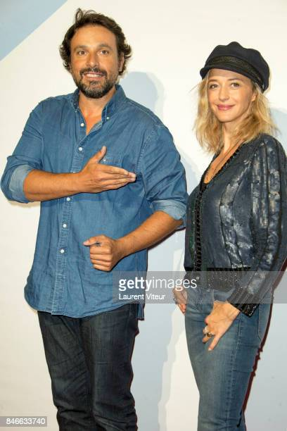 Actor Bruno Salomone and Actress Helene de Fougerolles attend 19th Festival of TV Fiction Opening Ceremony on September 13 2017 in La Rochelle France