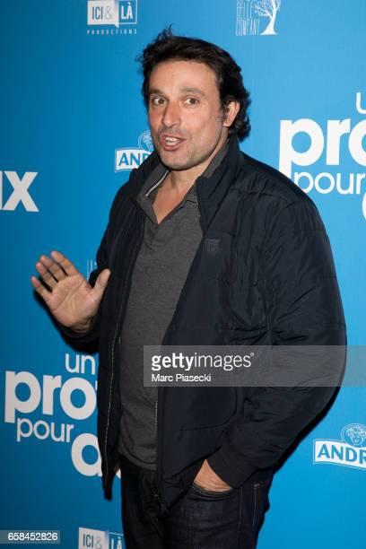 Actor Bruno Salomone attends 'Un Profil pour Deux' Premiere at Cinema UGC Normandie on March 27 2017 in Paris France