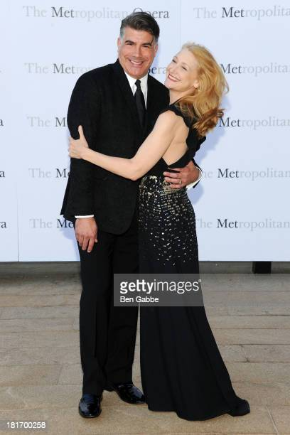 Actor Bryan Batt and actress Patricia Clarkson attend the Metropolitan Opera season opening production of Eugene Onegin at The Metropolitan Opera...