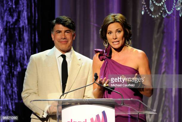Actor Bryan Batt and Countess LuAnn de Lesseps onstage at the 21st Annual GLAAD Media Awards held at Hyatt Regency Century Plaza Hotel on April 17...