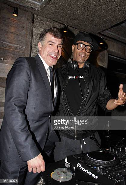 Actor Bryan Batt and DJ Peter Paul attend The Art of Mixology at Covet on April 1 2010 in New York City