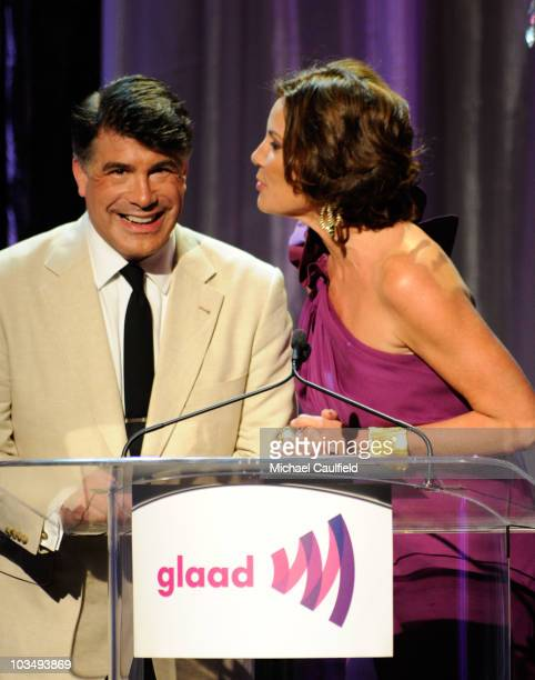 Actor Bryan Batt and TV personality Countess LuAnn de Lesseps onstage at the 21st Annual GLAAD Media Awards held at Hyatt Regency Century Plaza Hotel...