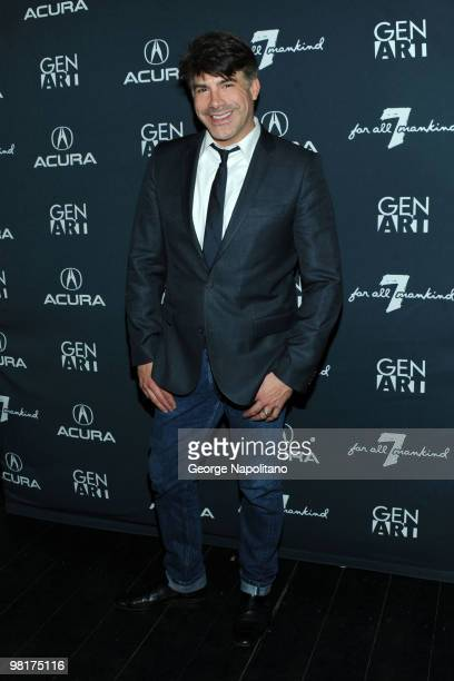 Actor Bryan Batt attends the Gen Art Film Festival Presented by Acura's 15th Anniversary launch party at 7 For All Mankind on March 31 2010 in New...