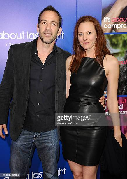 Actor Bryan Callen and Amanda Humphrey attend the Pan African Film Arts Festival premiere of About Last Night at ArcLight Cinemas Cinerama Dome on...