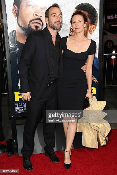 Actor Bryan Callen and his wife actress Amanda Humphrey attend the premiere of Universal Pictures' 'Ride Along' at TCL Chinese Theatre on January 13...