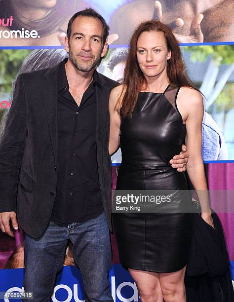 Actor Bryan Callen and wife Amanda Humphrey attend the Pan African Film Arts Festival premiere of 'About Last Night' on February 11 2014 at ArcLight...
