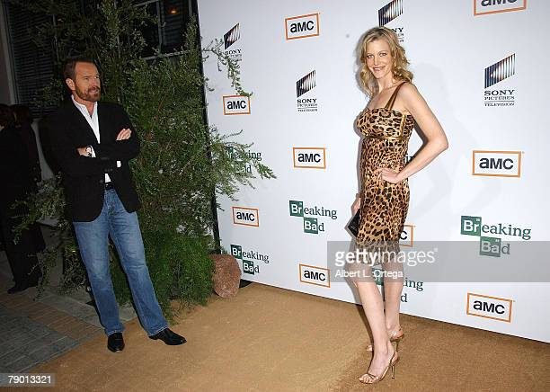 Actor Bryan Cranston and actress Anna Gunn arrives at the Premiere Screening of AMC's new Sony Pictures' Television drama Breaking Bad held on...
