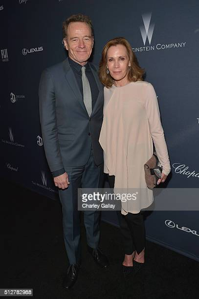 Actor Bryan Cranston and actress Robin Dearden attend The Weinstein Company's PreOscar Dinner presented in partnership with FIJI Water Chopard DeLeon...