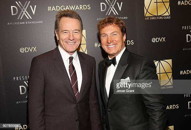 Actor Bryan Cranston and ADG President Nelson Coates attend the Art Directors Guild 20th Annual Excellence In Production Awards at The Beverly Hilton...
