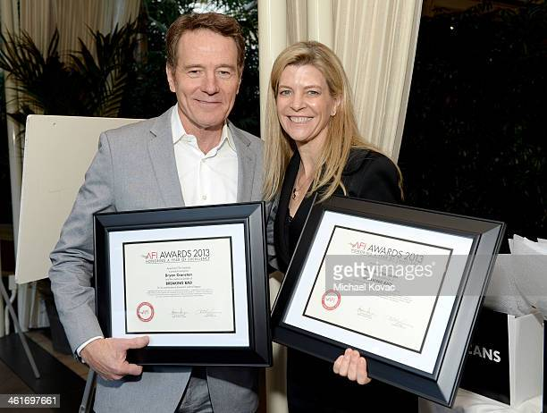 Actor Bryan Cranston and producer Michelle MacLaren AFI Award honorees attend the 14th annual AFI Awards Luncheon at the Four Seasons Hotel Beverly...