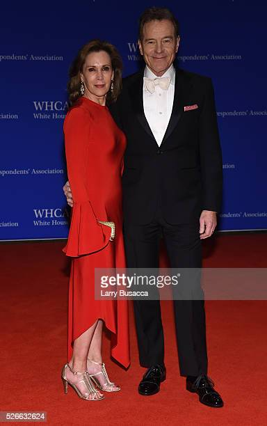 Actor Bryan Cranston and Robin Dearden attend the 102nd White House Correspondents' Association Dinner on April 30 2016 in Washington DC