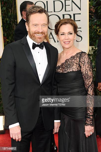 Actor Bryan Cranston and wife Robin Dearden arrive at the 69th Annual Golden Globe Awards held at the Beverly Hilton Hotel on January 15 2012 in...