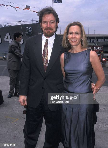 Actor Bryan Cranston and wife Robin Dearden attend the FOX Television Upfront Party on May 17 2001 at the USS Intrepid Pier 86 in New York City