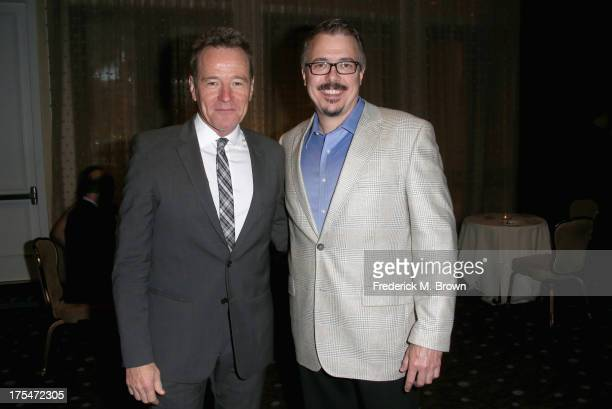 Actor Bryan Cranston and writer/director Vince Gilligan attend the 29th Annual Television Critics Association Awards at the Beverly Hilton Hotel on...