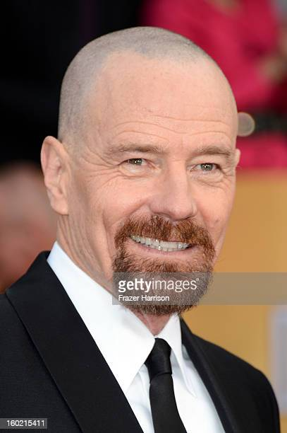 Actor Bryan Cranston arrives at the 19th Annual Screen Actors Guild Awards held at The Shrine Auditorium on January 27 2013 in Los Angeles California