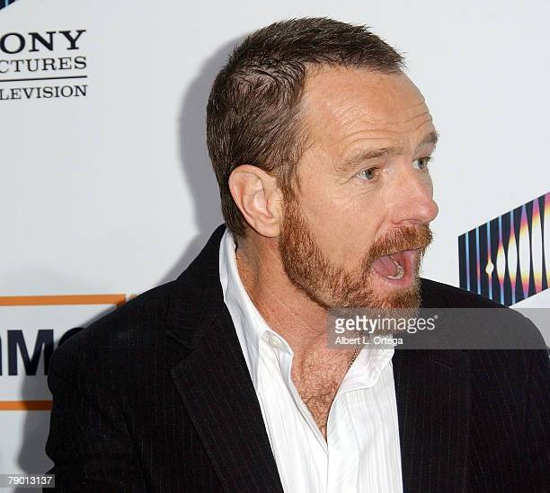 Actor Bryan Cranston arrives at the Premiere Screening of AMC's new Sony Pictures' Television drama Breaking Bad held on January 15 2008 at The Cary...