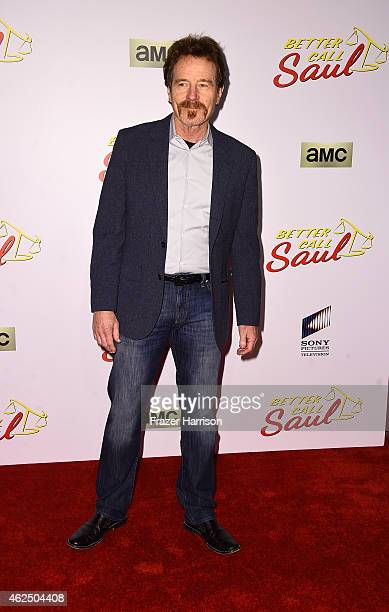 Actor Bryan Cranston arrives at the Series Premiere Of AMC's 'Better Call Saul' at Regal Cinemas LA Live on January 29 2015 in Los Angeles California