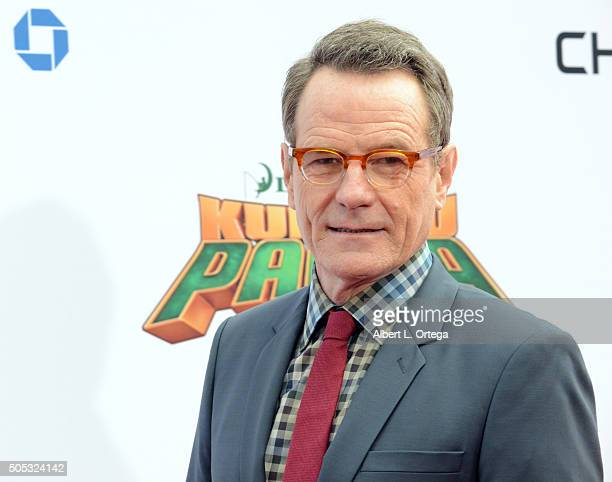 Actor Bryan Cranston arrives for the Premiere Of DreamWorks Animation And Twentieth Century Fox's 'Kung Fu Panda 3' held at TCL Chinese Theatre on...