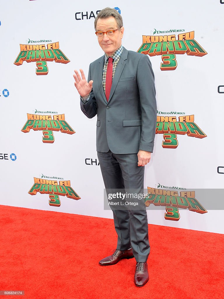 Actor Bryan Cranston arrives for the Premiere Of DreamWorks Animation And Twentieth Century Fox's 'Kung Fu Panda 3' held at TCL Chinese Theatre on January 16, 2016 in Hollywood, California.