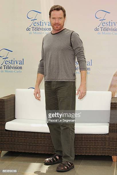 S actor Bryan Cranston attends a photocall for the American TV series 'Breaking Bad' during the 2009 Monte Carlo Television Festival held at Grimaldi...