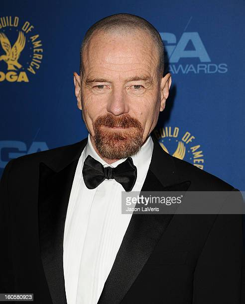 Actor Bryan Cranston attends the 65th annual Directors Guild Of America Awards at The Ray Dolby Ballroom at Hollywood Highland Center on February 2...