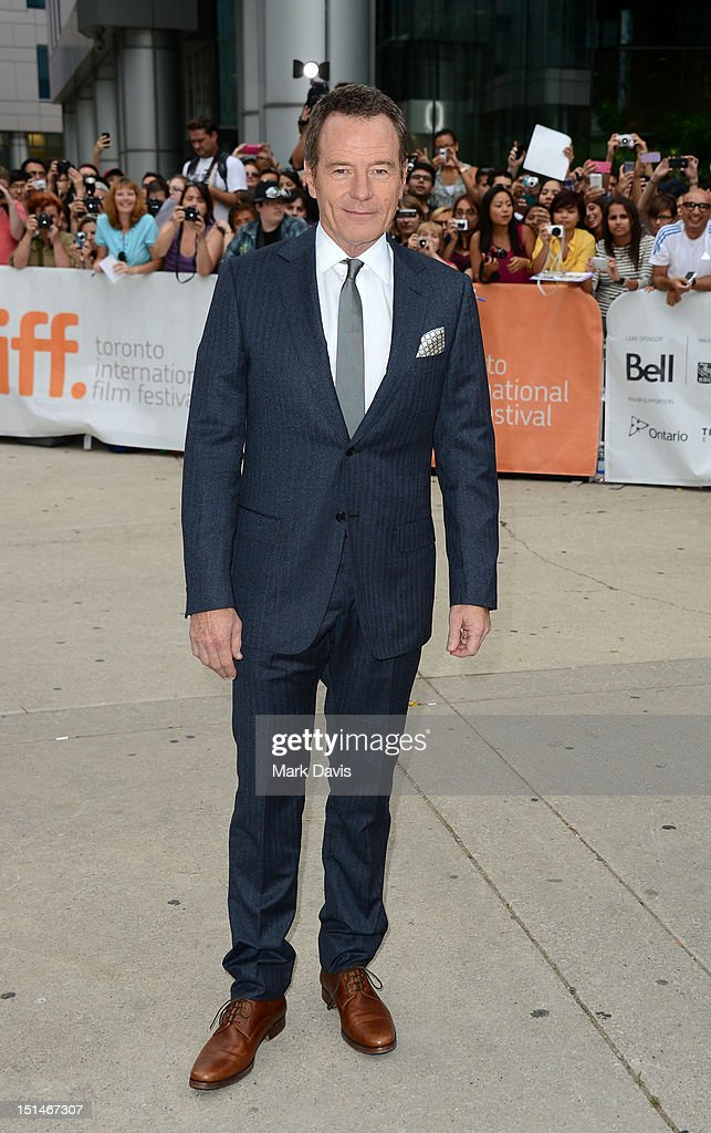 Actor Bryan Cranston attends the 'Argo' premiere during the 2012 Toronto International Film Festival at Roy Thomson Hall on September 7, 2012 in Toronto, Canada.