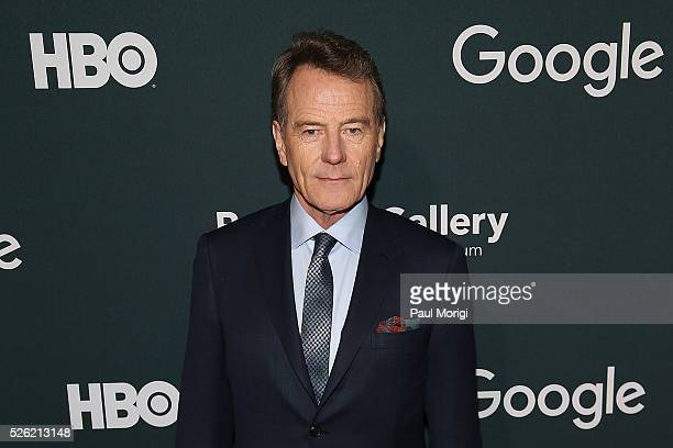 Actor Bryan Cranston attends the Google/HBO celebration of 'All The Way' during White House Correspondents' weekend at the Renwick Gallery on April...