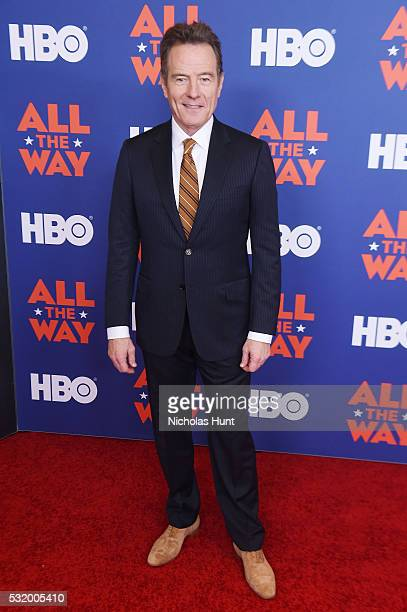 Actor Bryan Cranston attends the NYC special screening of HBO Films' 'All The Way' at Jazz at Lincoln Center on May 17 2016 in New York City