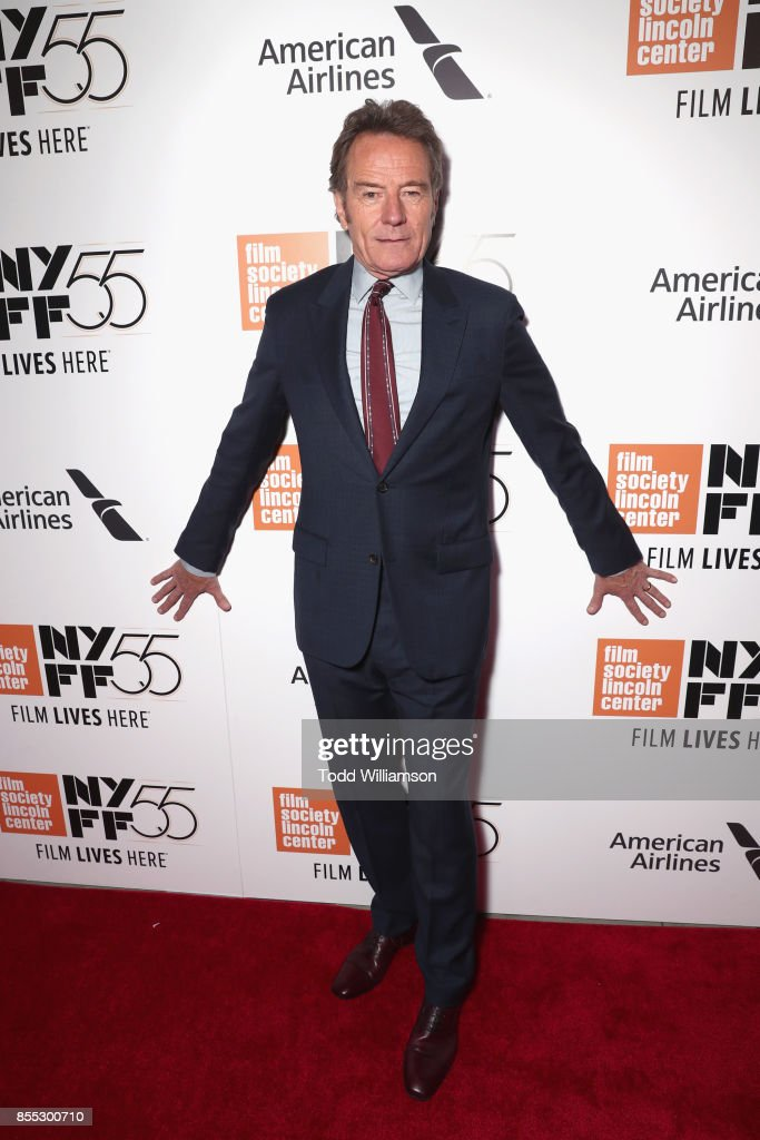 Actor Bryan Cranston attends the opening night premiere of 'Last Flag Flying' during the 55th New York Film Festival at Alice Tully Hall, Lincoln Center on September 28, 2017 in New York City.