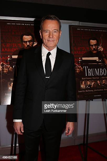 Actor Bryan Cranston attends the Trumbo Washington DC premiere at The Newseum on November 9 2015 in Washington DC