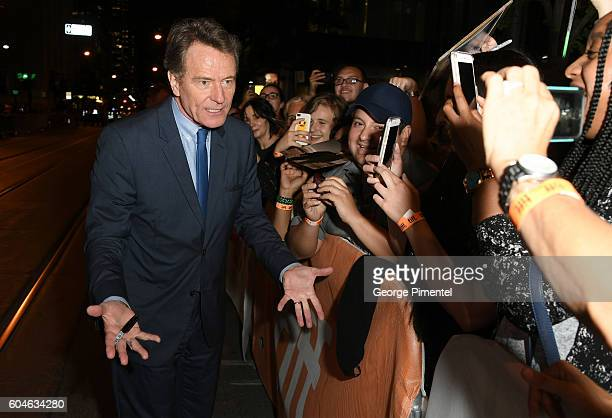 Actor Bryan Cranston attends the 'Wakefield' premiere during the 2016 Toronto International Film Festival at Princess of Wales Theatre on September...