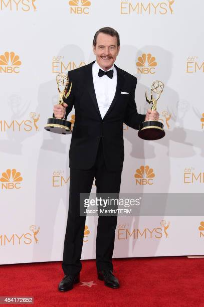 Actor Bryan Cranston winner of Outstanding Drama Series Award and Outstanding Lead Actor in a Drama Series for Breaking Bad poses in the press room...