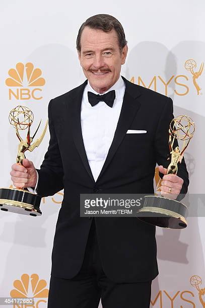 Actor Bryan Cranston winner of Outstanding Drama Series Award and Outstanding Lead Actor in a Drama Series for 'Breaking Bad' poses in the press room...